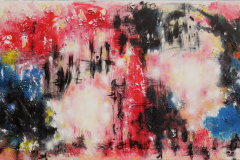 Astonishing Red § Black Sky 120x60  (Sold)