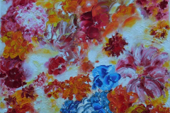 Flowers My Way  70x70  Sold