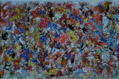 Explosie van kleuren  100x50 - 350 euro