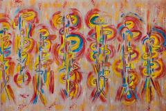 Symphonie in 3 kleuren 60x120 - 350 euro