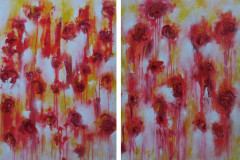 Weeping Poppies 120x90 (diptych) - 530 euro