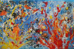 Bush on fire 50x100 - 390 euro