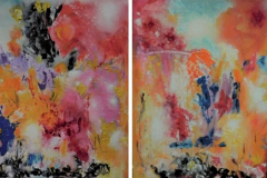 Dreaming away diptych 50x140 - 480 euro