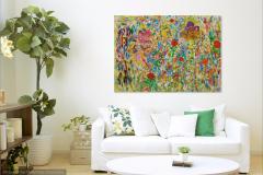 Wild Garden 80 X140 - Sold
